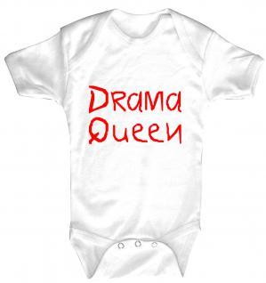 Babystrampler mit Print ? Drama Queen ? 08328 weiß - 0-24 Monate