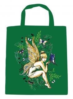(U10972)Umweltfreundliche Baumwoll - Tasche , ca. 28 x 43 cm mit Aufdruck in 7 Farben grün