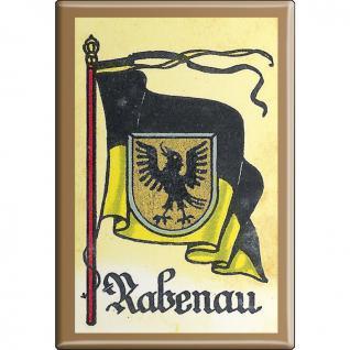 Küchenmagnet - Wappen Rabenau - Gr. ca. 8 x 5, 5 cm - 37541 - Magnet Kühlschrankmagnet
