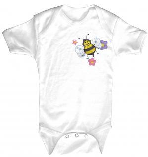 Babystrampler mit Einstickung - Bienchen - 12717 - 6-12 Monate