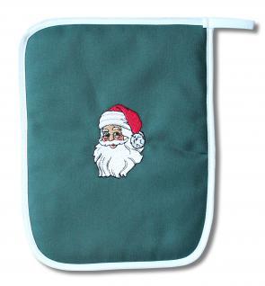 Topflappen mit Einstickung - Weihnachtsmann - 31731 - Gr. 25cmx20cm