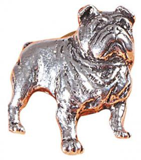 Anstecknadel - Metall - Pin - Bulldogge - Hund - 02623