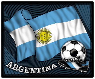 Mousepad Mauspad mit Motiv - Argentinien Fahne Fußball Fußballschuhe - 83014 - Gr. ca. 24 x 20 cm