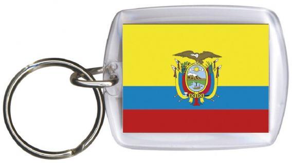Schlüsselanhänger - ECUADOR - Gr. ca. 4x5cm - 81044 - WM Länder