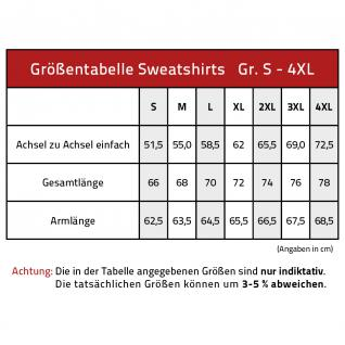 Sweatshirt mit Print - Tattoo Schädel - 09074 - versch. farben zur Wahl - blau / M - Vorschau 2