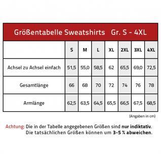 Sweatshirt mit Print - Tattoo Schädel - 09074 - versch. farben zur Wahl - rot / XL - Vorschau 2