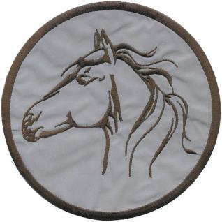 Aufnäher - Pferdekopf - Ø 15 cm - 08576 - Patches Stick Applikation