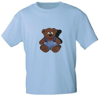 Kinder T-Shirt mit Aufdruck - Bärchen - 06890 - hellblau - Gr. 92/98