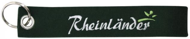 Filz-Schlüsselanhänger mit Stick Rheinländer Gr. ca. 17x3cm 14184 schwarz