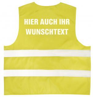 Warnweste mit Aufdruck - WUNSCHNAME - 11000 versch. Farben gelb / 2XL