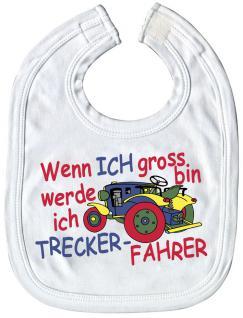 Baby-Lätzchen mit Druckmotiv - Wenn ich groß bin... Treckerfahrer - 08411 - weiss