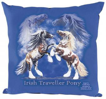 Kissen mit hochwertigem Print - Pferde Steigende Tinker - 09110 blau ©Kollektion Bötzel