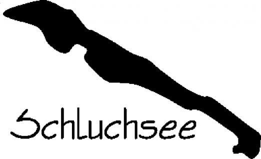 """PVC- Applikations- Aufkleber """" Schuchsee"""" in 8 Farben, 25 cm groß AP2001 schwarz"""