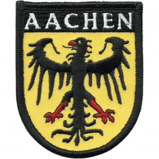 AUFNÄHER - Aachen - 00428 - Gr. ca. 6 x 7, 5 cm - Patches Stick Applikation