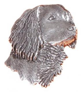 Anstecknadel - Metall - Pin - Hundekopf - Größe ca 25 x 30 mm - 05561 - Vorschau