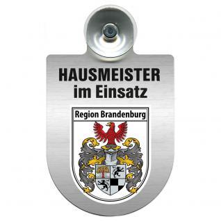 Einsatzschild Windschutzscheibe incl. Saugnapf - Hausmeister im Einsatz - 309393 - Region Brandenburg