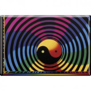 Magnet - HERZ YIN YANG - Gr. ca. 8 x 5, 5 cm - 38862 - Küchenmagnet