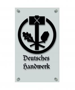 Zunftschild Handwerkerschild - Deutsches Handwerk - beschriftet auf edler Acryl-Kunststoff-Platte ? 309415 schwarz