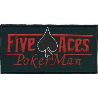 Aufnäher - Five Aces - 03273 - Gr. ca. 11, 5 x 6 cm - Patches Stick Applikation