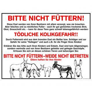 Hinweisschild - Bitte nicht füttern - Gr. ca. 40 x 30 cm - 308897