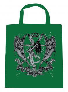 (U10898)Umweltfreundliche Baumwoll - Tasche , ca. 28 x 43 cm mit Aufdruck in 7 Farben grün