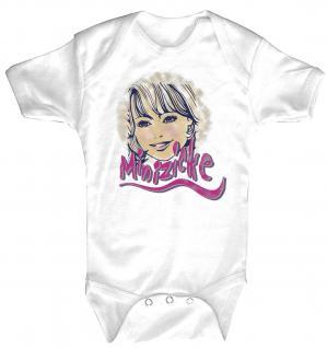 Babystrampler mit Print ? Minizicke? 08382 weiß - 6-12 Monate
