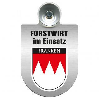 Einsatzschild für Windschutzscheibe incl. Saugnapf - Forstwirt im Einsatz - 309468-18 Region Franken
