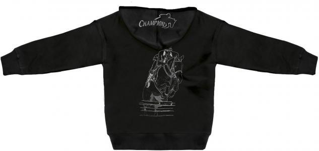 Kapuzenjacke mit Einstickung und Print ? Springreiten Champion - 132027 - XS-5XL