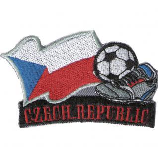 AUFNÄHER - Fußball - Tschechien - 77911 - Gr. ca. 8 x 5 cm - Patches Stick Applikation