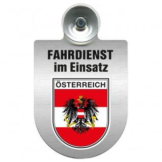 Einsatzschild Windschutzscheibe incl. Saugnapf - Fahrdienst im Einsatz - 309458 Region Österreich