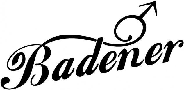 Aufkleber Applikation - Badener - AP3991 - versch. Größen