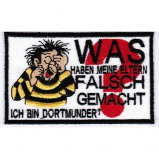 AUFNÄHER - Ich bin Dortmunder - 20608- Gr. ca. 11 x 7 cm - Patches Stick Applikation