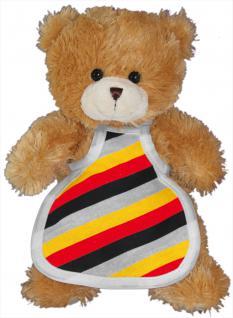 Plüsch - Teddybär mit Kochschürze - Germany - Deutschlandfarben - 77676