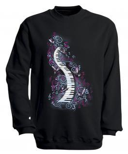 S-Shirt mit Print - Klavier - 09018 - versch. farben zur Wahl - Gr. Navy / XXL