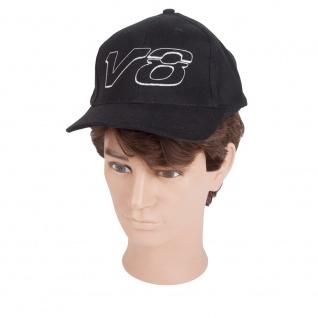 Baseballcap mit Einstickung - TRUCKER V8 - 69233/1 schwarz