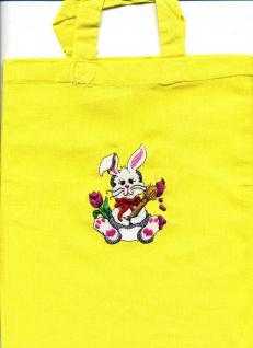 Kinder-Baumwolltasche - Einstickung OSTERHÄSCHEN - 12365 - Ostern