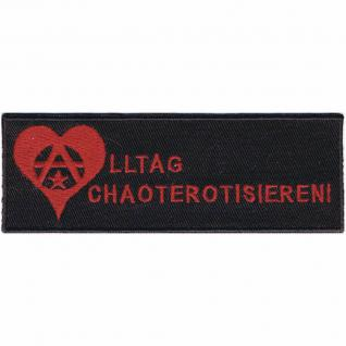 AUFNÄHER - Anarchie - 00034 - Gr. ca. 12 x 4 cm - Patches Stick Applikation
