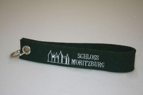 Filz-Schlüsselanhänger mit Stick - Schloss Moritzburg - Gr. ca. 17x3cm - 14234