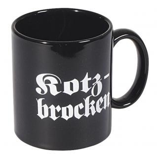 Tasse Kaffeebecher mit Print Kotzbrocken 57113 schwarz