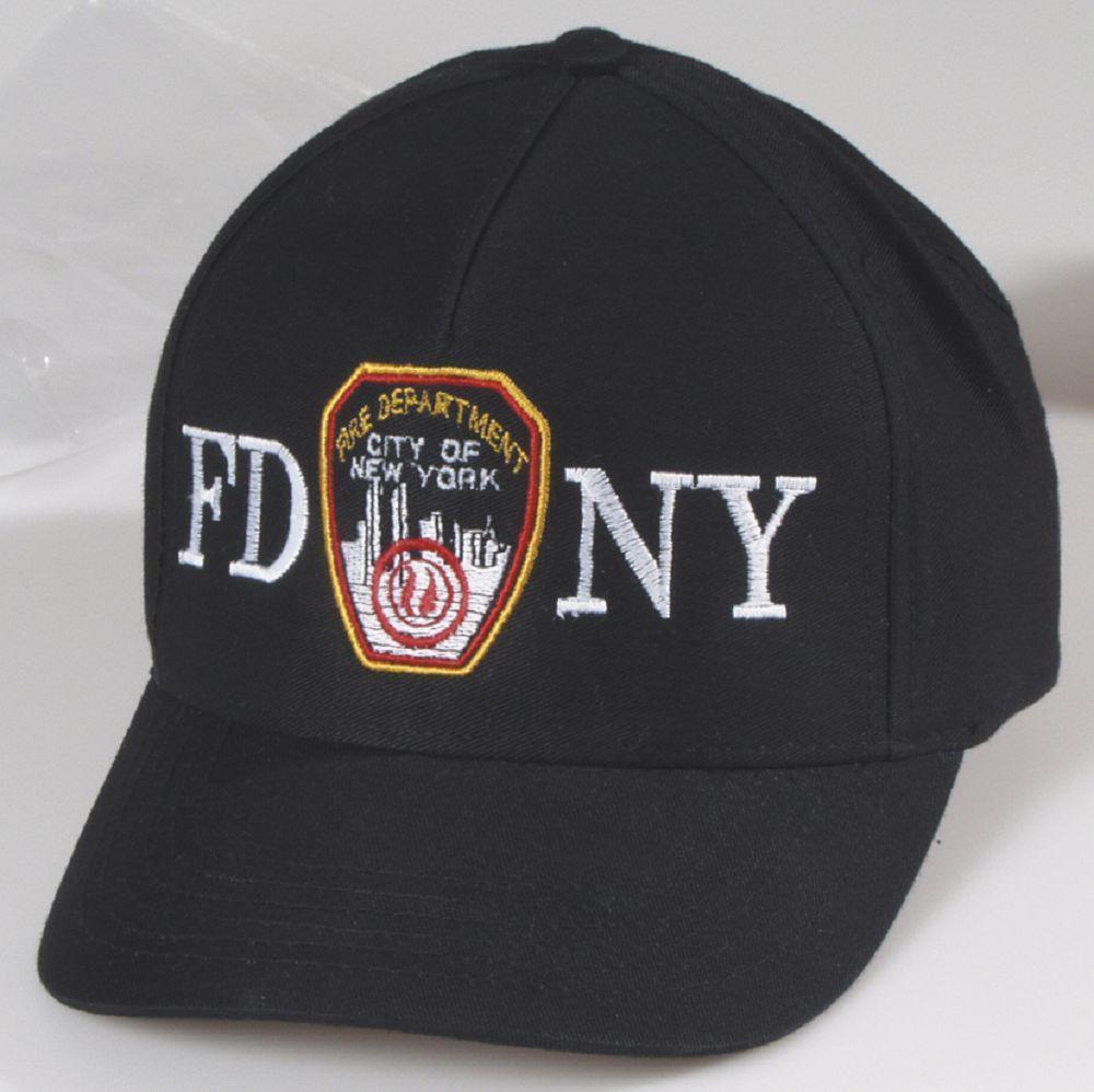Baseballcap-CAP mit Bestickung - Fire Department New York ... F D N Y -  68289 c44a22ab424
