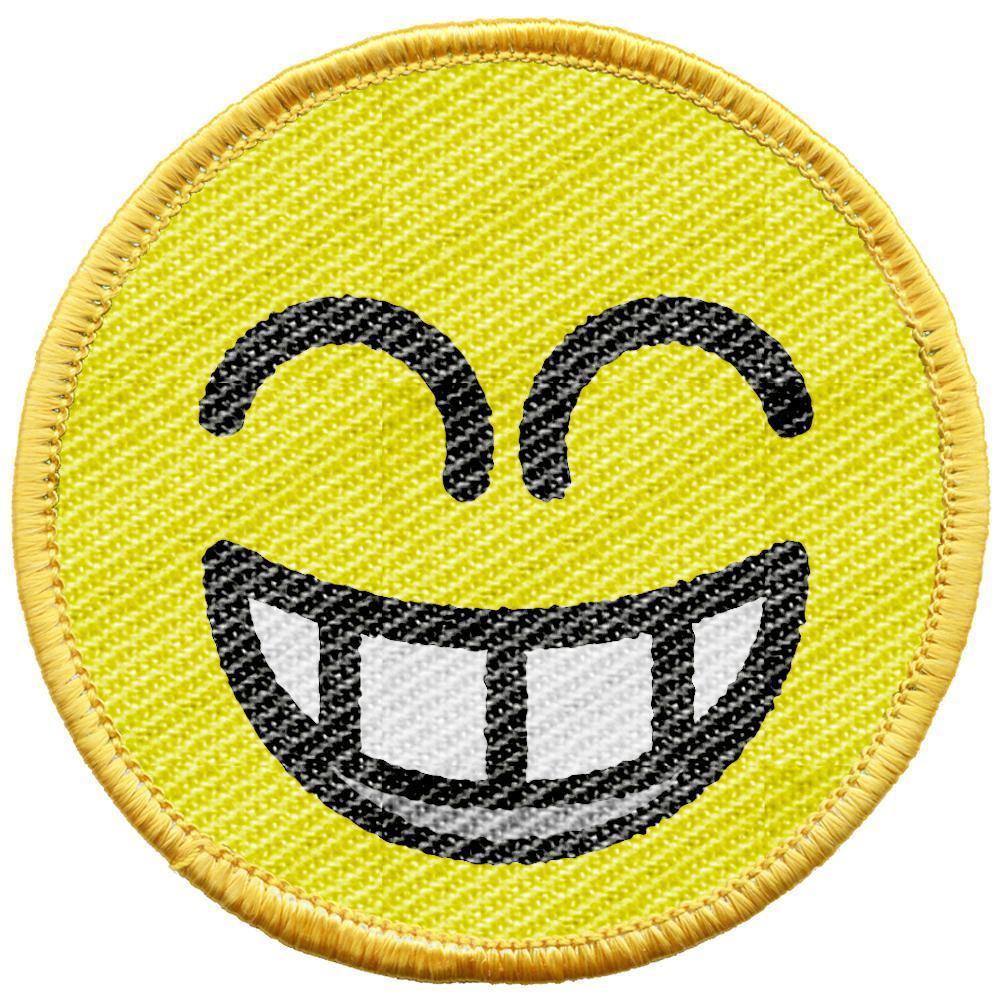 Aufnäher Lachender Smiley 21709 Gr Ca 6 Cm Patches Stick