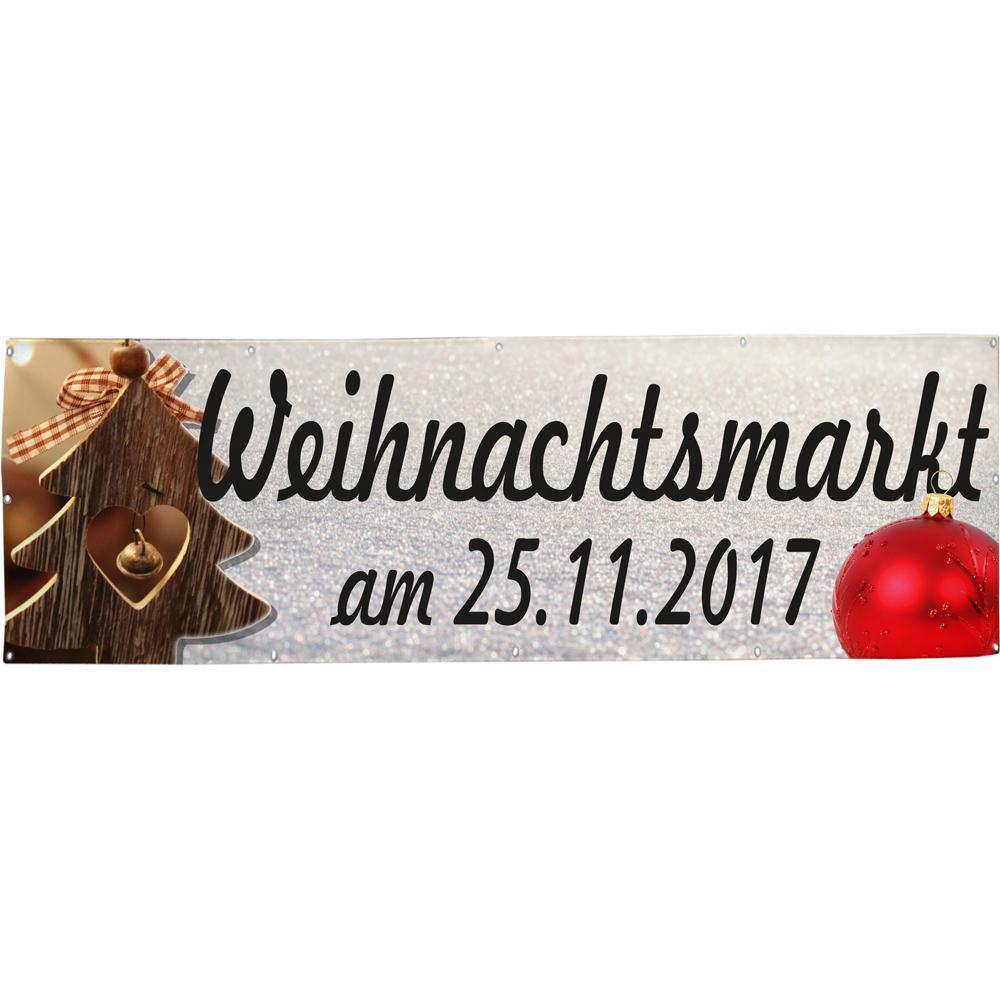 Banner Werbebanner - Weihnachtsmarkt am 25.11. - 3x1m - Spannband ...