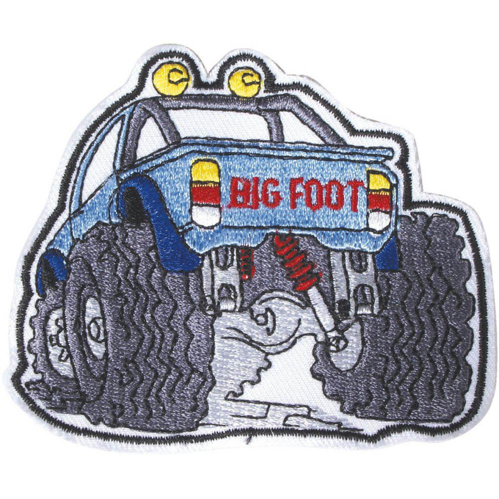 Aufnäher Truck Big Foot 04914 Gr Ca 8 5 X 6 5 Cm Patches Stick Applikation