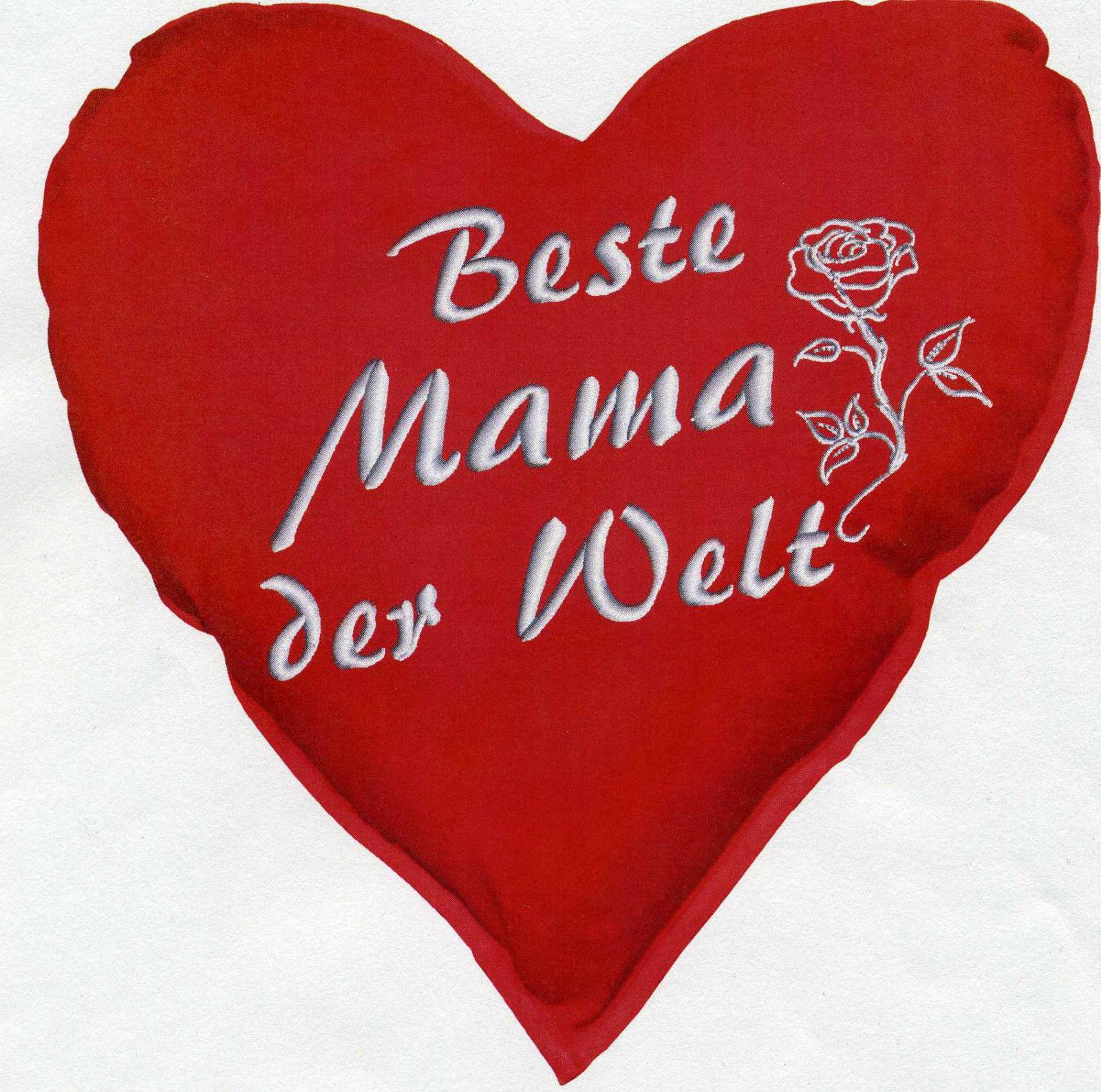 herzkissen beste mama der welt deko kissen ca 36 cm herz 11403 herzkissen kaufen bei. Black Bedroom Furniture Sets. Home Design Ideas