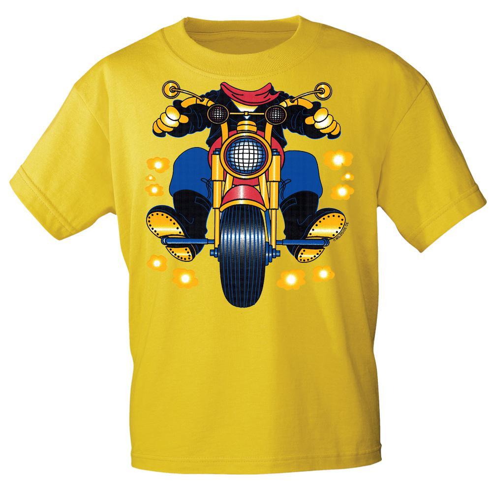 kinder markentshirt mit motivdruck in 13 farben motorrad