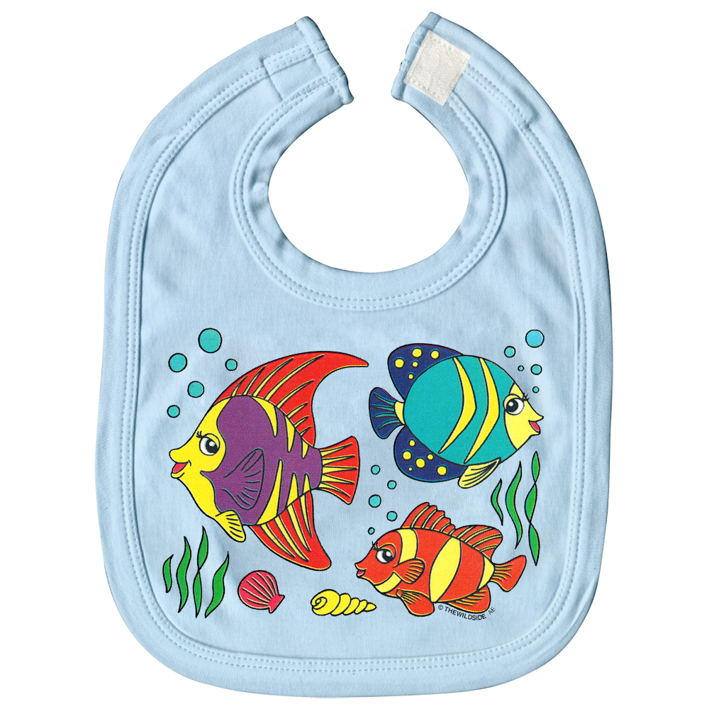 Baby Lätzchen Mit Print Fische Nemo L12779 Versch Farben Hellblau