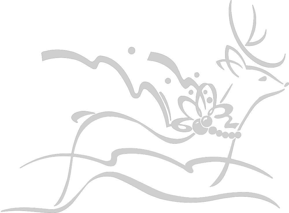 Wandtattoo  Dekorfolie mit Motiv   fliegendes Rentier  Ø 90cm Länge max.100 cm, in 11 Farben WD0802 silber