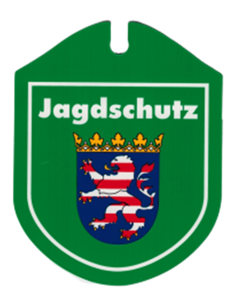 Saugnapf J/ÄGER Schilder Einsatzschild f/ür die Windschutzscheibe incl WappenJ/äger