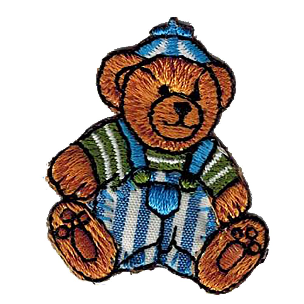 Aufnäher Patches Bär Teddy im Marine Look (BR865) Gr. ca. 3, 5 x 4 cm