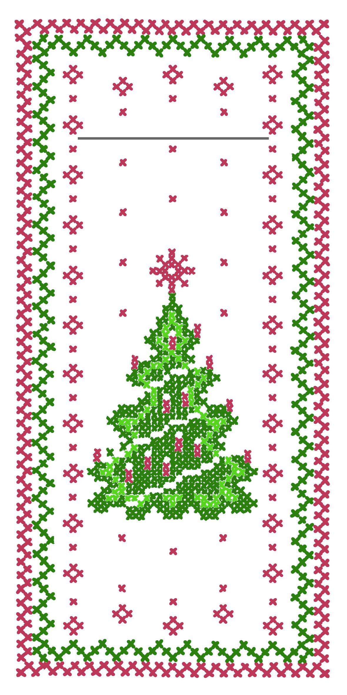 Serviette Bestecktasche Tannenbaum 33951 Weihnachten Tischdeko